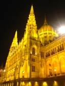 Parliament buildings up close, Budapest.