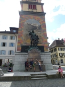 Statue of William Tell in Sandra's home town in Switzerland.