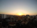 Sunset over Tirana.