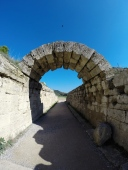 The last remaining arch on the walkway into the stadium, Olympia.