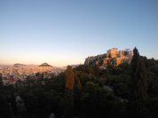 Sunset view of the Acropolis.